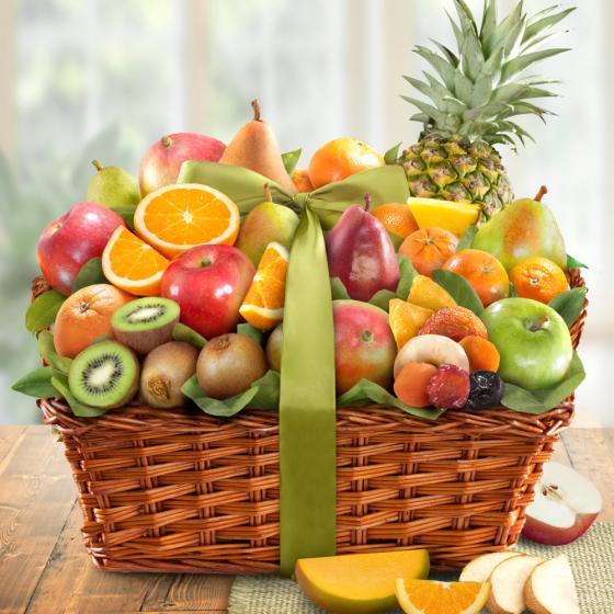 Tropic Abundance Fruit Basket Aa4061 A Gift Inside