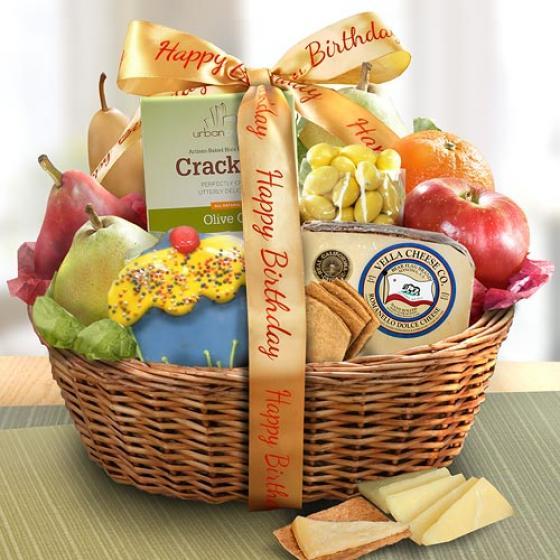 Happy Birthday Savory And Sweet Fruit Basket