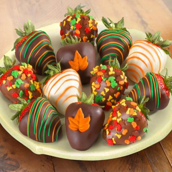 Fall Chocolate Covered Strawberries 12 Berries Acd2035