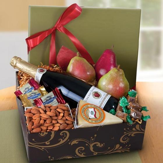 Sonoma Deluxe Fruit And Sparkling Cider Gift Box Ag2101