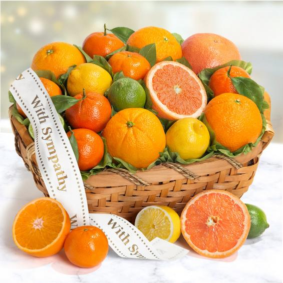 AA4072S, Sympathy Sweet Sunshine Citrus Fruit Gift Basket
