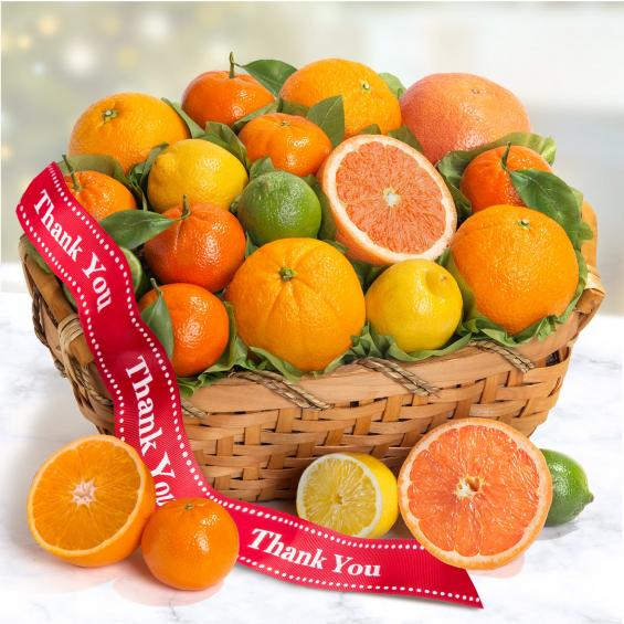 AA4072T, Thank You Sweet Sunshine Citrus Fruit Gift Basket