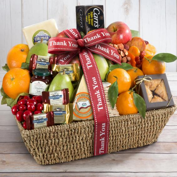 AA4016T, Thank You California Farmstead Fruit Gift Basket
