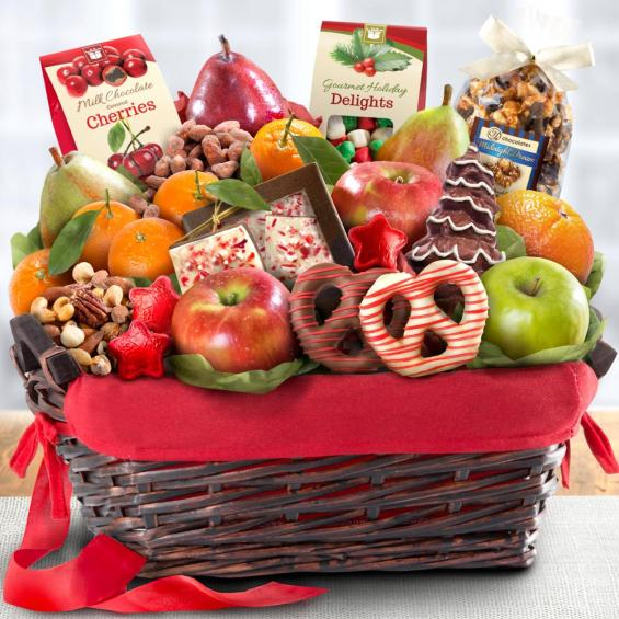 Holiday chocolate nuts and fresh fruit gift basket aa4048 a aa4048 holiday chocolate nuts and fresh fruit gift basket negle Gallery