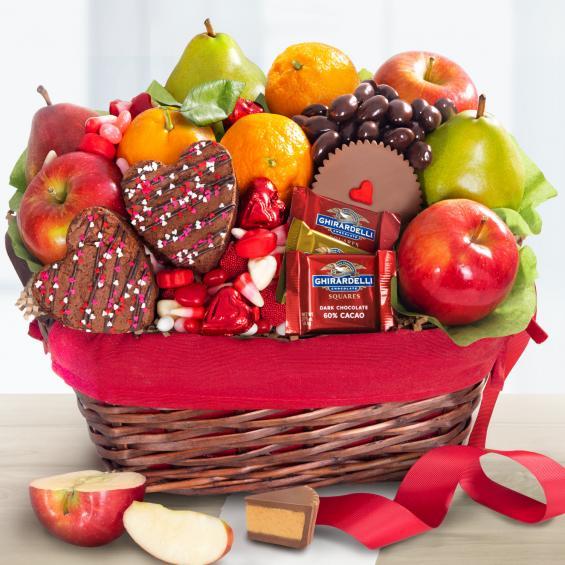 Valentine Treasures Fruit Basket Gift