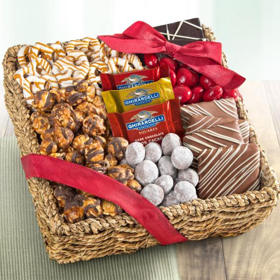 AA4055, Chocolate, Caramel and Crunch Gift Basket