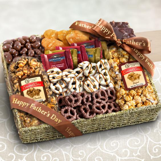 AA4056F, Happy Father's Day Chocolate Caramel and Crunch Grand Gift Basket