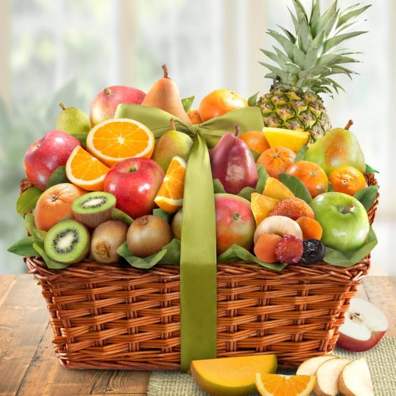 fruit basket pictures  Tropic Abundance Fruit Basket - AA4061 - A Gift Inside