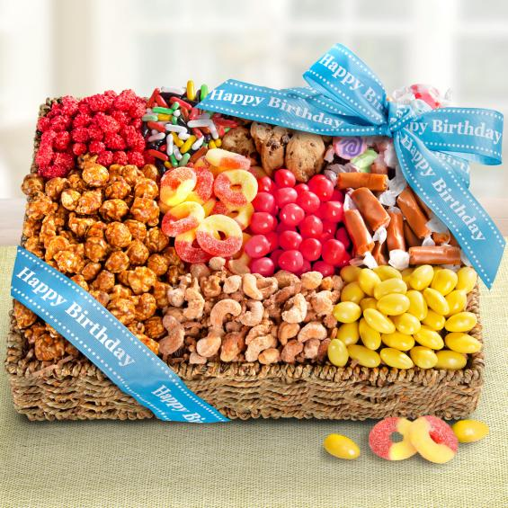 AA4096B, Happy Birthday Snacks & Sweets Basket