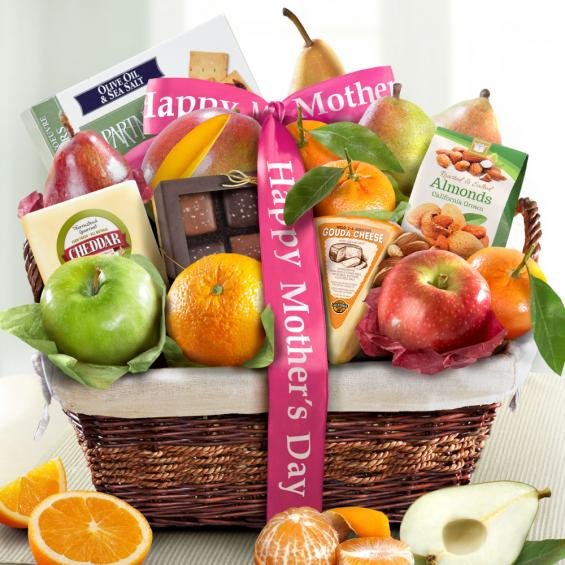 AA4101M, Mothers Day Deluxe Fruit Basket