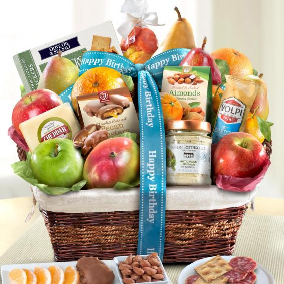 AA4102B, Happy Birthday Abundance Classic Fruit Basket