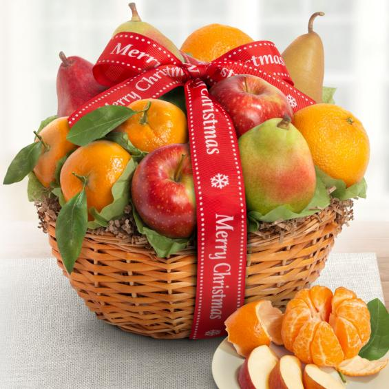 AA4103X, Merry Christmas Fruit Favorites Basket