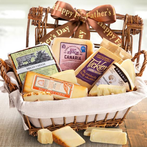 AA5030F, Happy Father's Day Cheese Hamper Gourmet Gift Basket