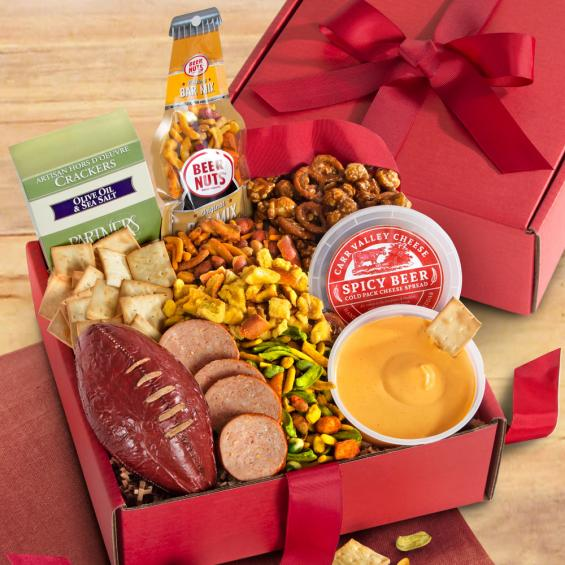 AB1085, Game Day Meat, Cheese & Snack Variety Gift Box