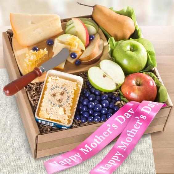 AB2055M, Mother's Day Fresh Fruit, Cheese & Honeycomb Gift Box