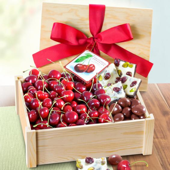 AC1060, Fresh Cherries and Gourmet Chocolate Crate