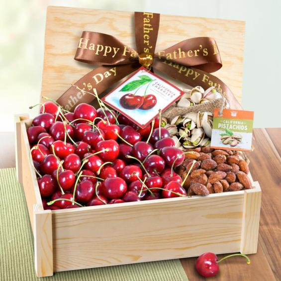 AC1060F, Happy Father's Day Fresh Cherries and Nuts Crate