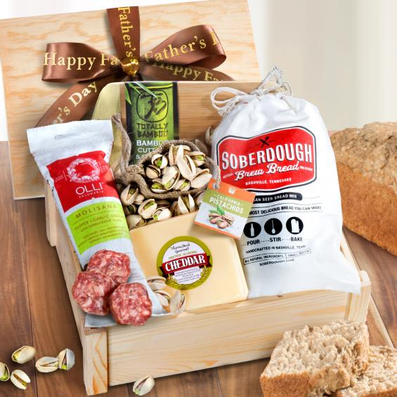 AC2010, Meat and Cheese Crate for Dad with Fathers Day Ribbon