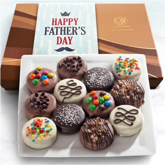 ACC1010F, Father's Day Deluxe Chocolate Dipped Oreos Gift Box - 12 pc