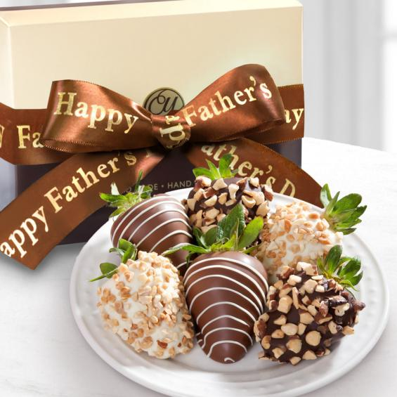 ACD1004F, Father's Day Nuts About Chocolate Covered Strawberries - 6 Berries