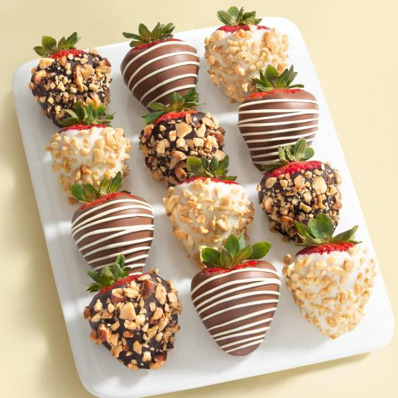 Nuts About Chocolate Dipped Strawberries 12 Berries Acd2004 A Gift Inside