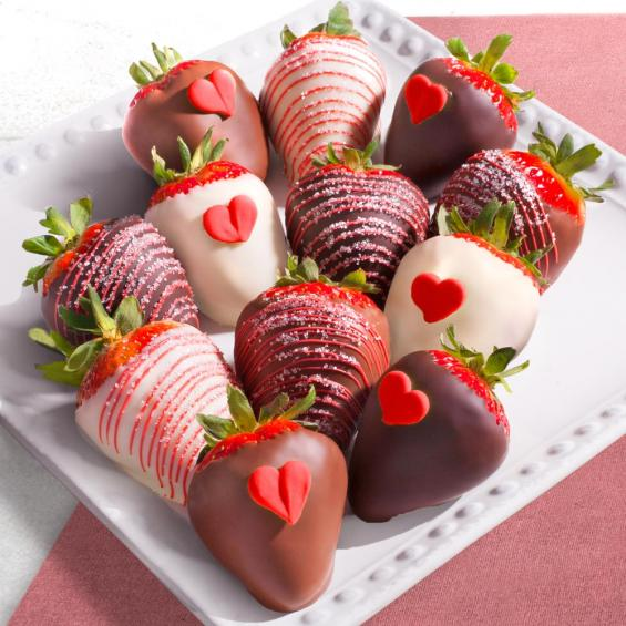 12 Heartfelt Valentine Chocolate Covered Strawberries Acd2037 A
