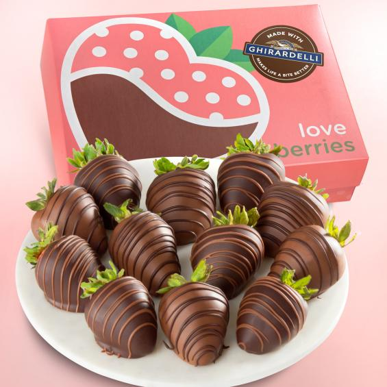 ACD2050, Made With Ghirardelli Chocolate Covered Strawberries - 12 Count