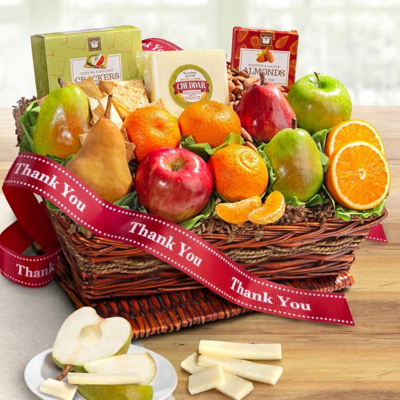 AP8019T, Thank You Classic Gourmet and Fruit Basket