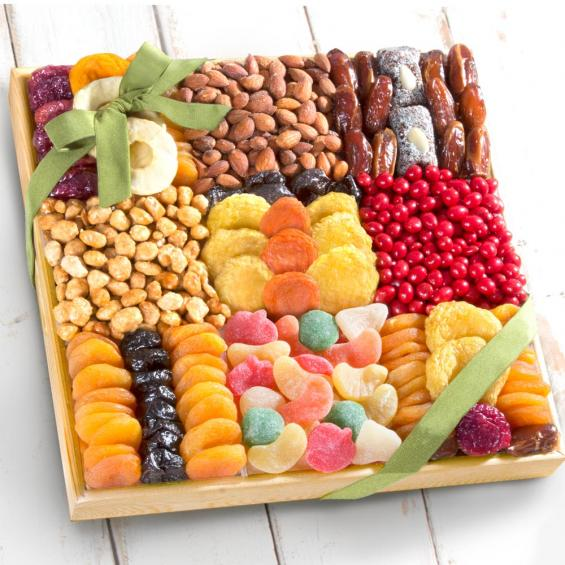 AP8046, Summer Extravagance Deluxe Dried Fruit & Nut Tray