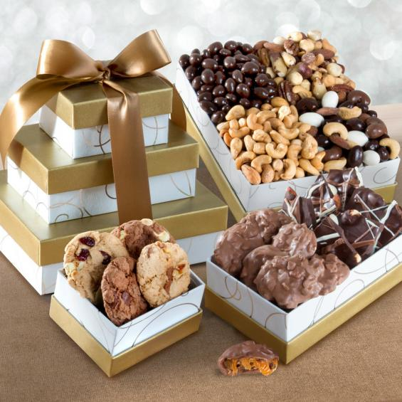 ATC0102, Gourmet Greetings Chocolate Confection & Nut Tower