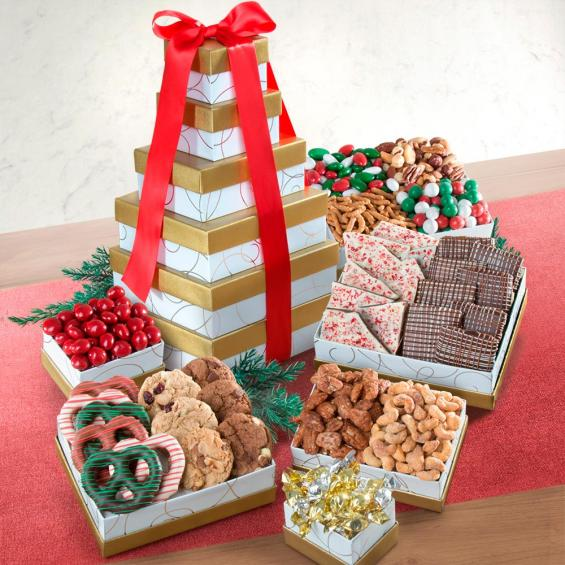 ATC0301, Chocolate, Savory and Sweet Holiday to Share Tower