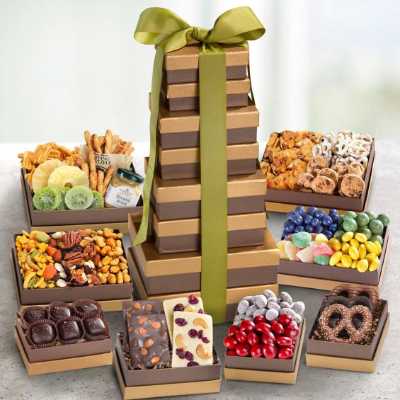 ATC0450, Enjoy and Share Snacking Deluxe 7 Box Tower
