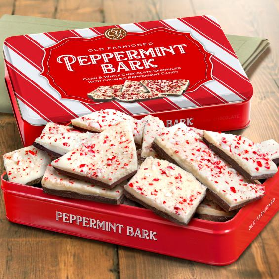 CY2100L, Handmade Layered Dark and White Chocolate Peppermint Bark