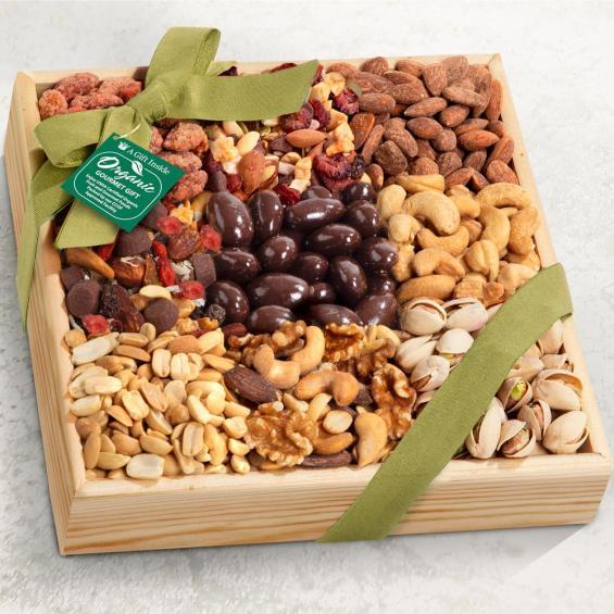 RA4009 Mendocino Organic Nut Gift Basket ... & Mendocino Organic Nut Gift Basket - RA4009 - A Gift Inside