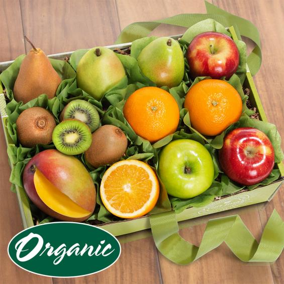 RB2002, Golden State Fruit Organic Deluxe Fruit Collection Gift Box