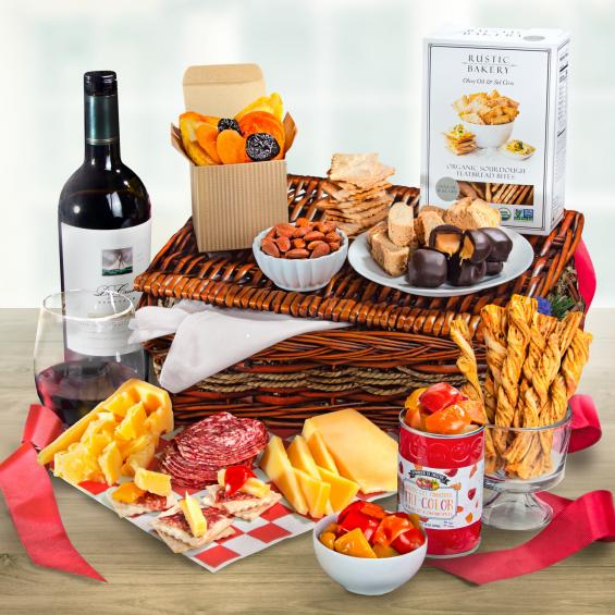 WA3016-NF04706, Lunch the Italian Way Gift Basket with Dry Creek Vineyards Cabernet