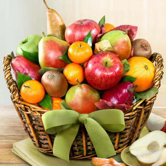 Harvest Gold Fruit Basket Aa4000 A Gift Inside