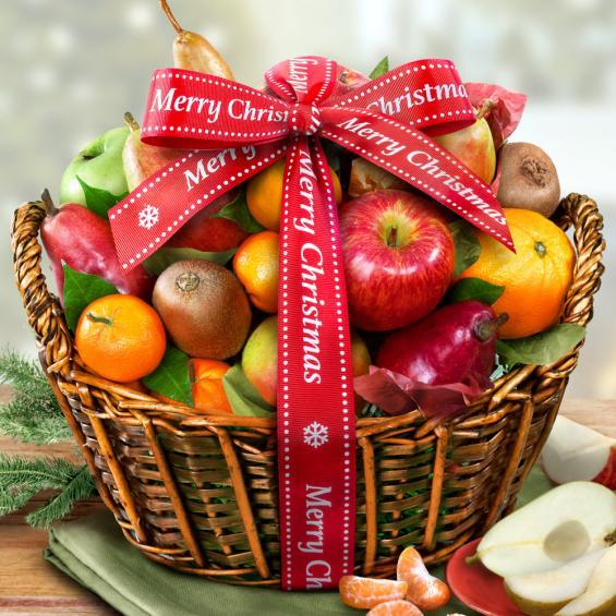 Merry christmas fruit basket aa4000x a gift inside aa4000x merry christmas fruit basket negle Images