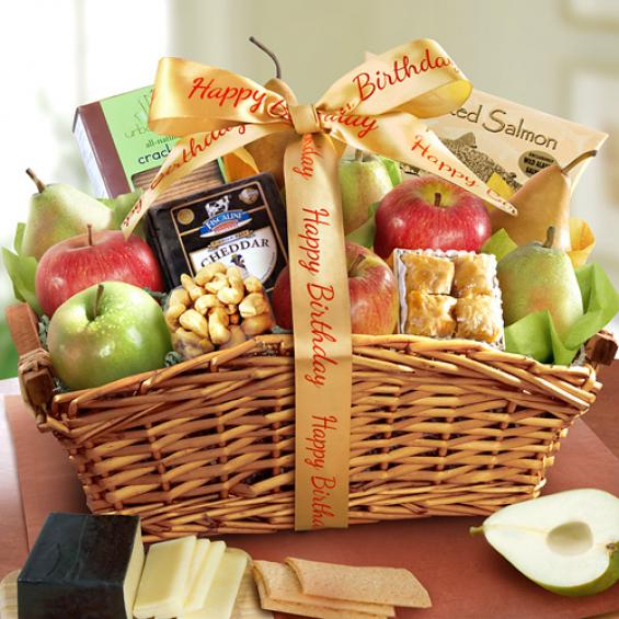 Happy Birthday Fancy Feast Fruit Basket