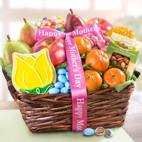 AA4050M, Mothers Day Fruit and Treats Basket