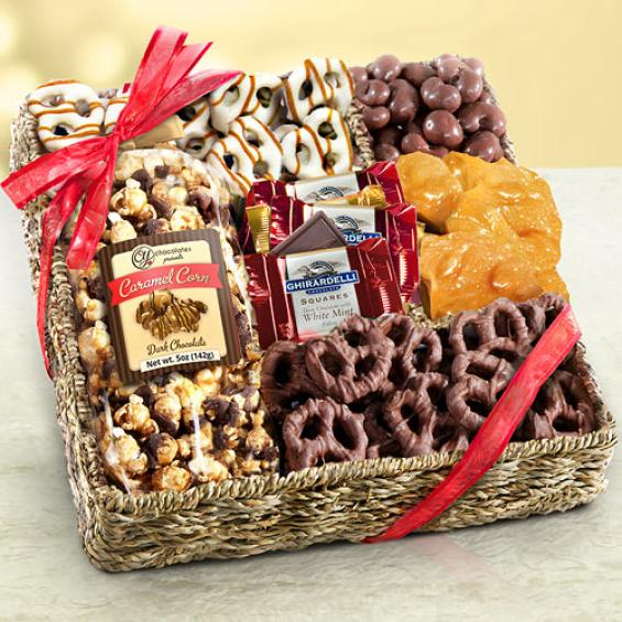 Chocolate assortment gift boxes a gift inside chocolate caramel and crunch gift basket negle Gallery