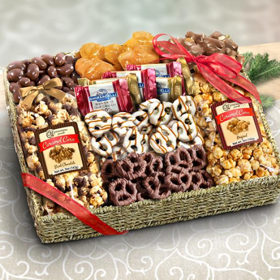 AA4056, Chocolate, Caramel and Crunch Grand Gift Basket