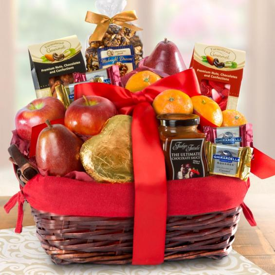 valentine's day chocolate fruit and basket - aa4070 - a gift inside, Ideas