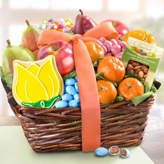 AA4073, Summer Spring Fruit and Treats Basket