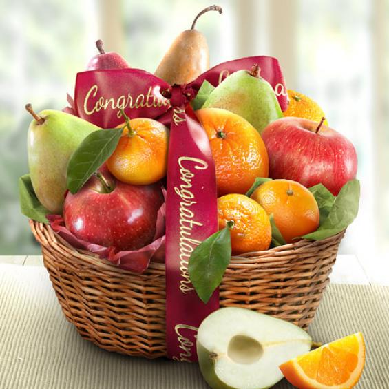 AA4103C, Congratulations Fruit Favorites Basket
