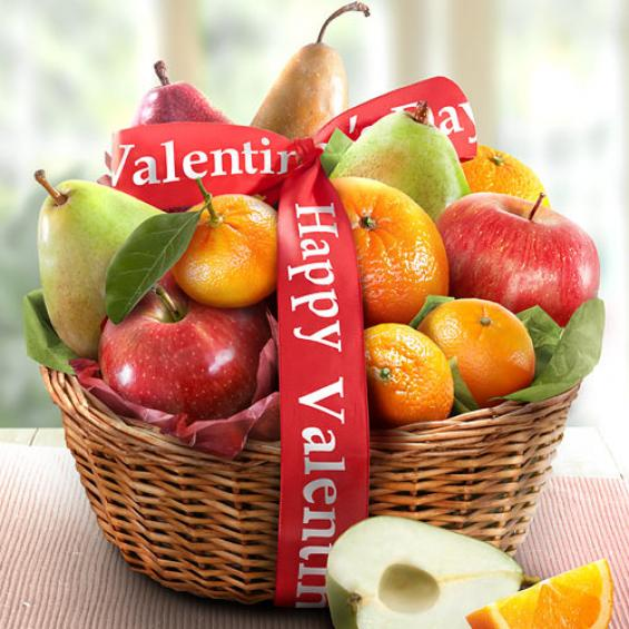 happy valentines day best fruit basket - aa4103v - a gift inside, Ideas