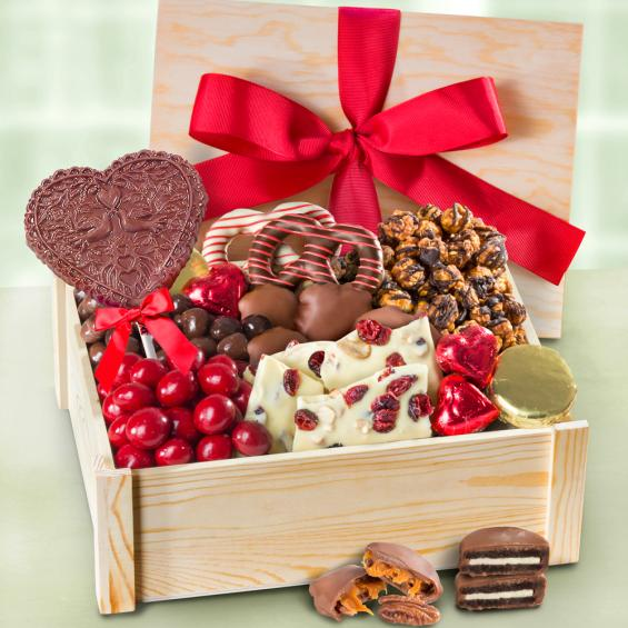 Deluxe valentine chocolate gift crate ac2025v a gift inside ac2025v deluxe valentine chocolate gift crate negle Gallery