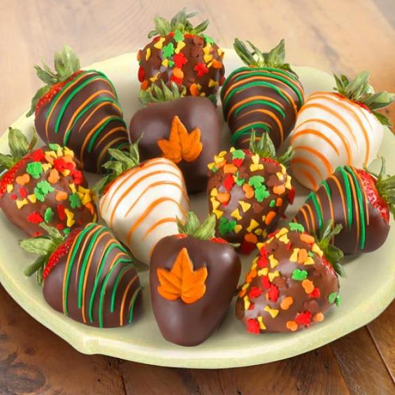 ACD2035, Fall Chocolate Covered Strawberries - 12 Berries