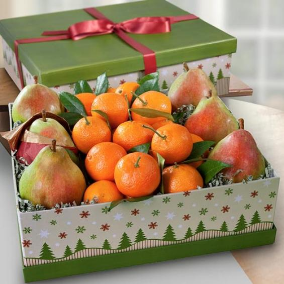 AG1001 Summit Christmas Fruit Gift Box ... & Summit Christmas Fruit Gift Box - AG1001 - A Gift Inside