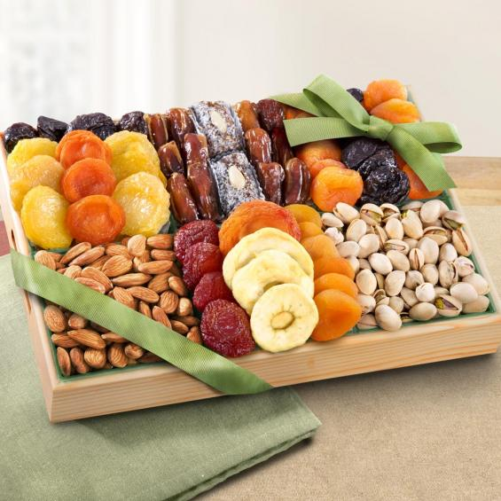 AP8001, Pacific Coast Deluxe Dried Fruit Tray with Nuts Gift